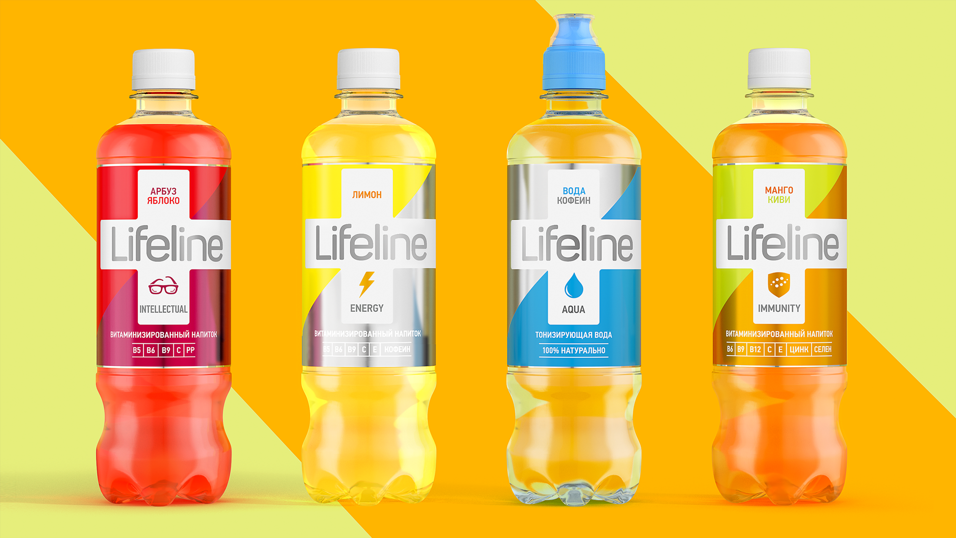 Дизайн этикетки воды Life Line